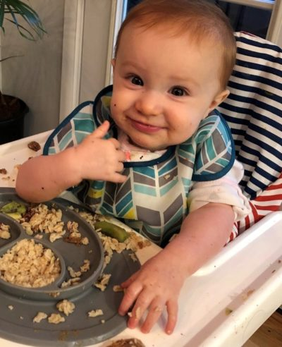 Starting Solid Foods: Learning to eat at the family table, 8 to 11 month old-0